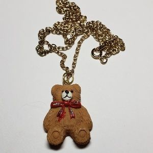Jewelry - Cute teddy bear pendant and chain
